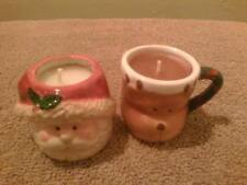 2 Handmade Winter Wonderland & Ginger Candles in Mini Holiday Mugs. Great Gift
