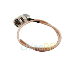 RF coaxial pigtail cable RG179 75ohm with BNC male Right angle connector 15cm