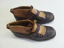 Chaussures de ski cuir anciennes/vintage leather ski boots 1930's