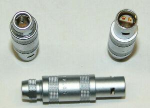 LEMO Größe 0S Kabel Stecker  4 polig FFA.0S.304 mit  4 mm Spannzange NOS