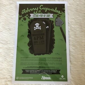 Johnny Cupcakes Poster Lecture Full Sail Halloween Coffin Tour 2012 Pop Up Shop