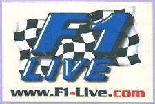 Autocollant WWW.F1 LIVE . Com  formule 1