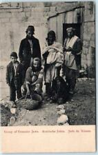 GROUP of YEMENITE JEWS   Arabishe Juden  Juifs de Yem   ca 1910s   Postcard