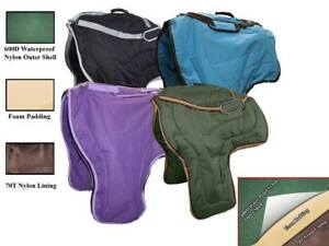 Tahoe Nylon Western Saddle Carry Bags Cases 3 Layers Padded