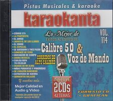 Calibre 50 y Voz de Mando Karaokanta Vol 114 Kraoke 2CD New Sealed