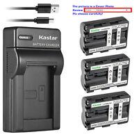 Kastar Battery Slim Charger for Sony NP-FM500H & Sony Alpha ¦Á77 a77 SLT-A77