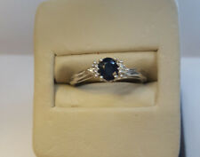 CM-RM1678W-09 10k White Gold Oval Sapphire And Diamond Ring