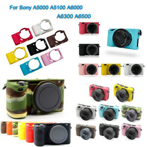 Silicone Camera Protector Case Body Cover Bag For Sony A5100 A6300 A6300 A6500