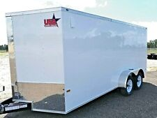 7'x16' Enclosed Trailer Cargo ATV Motorcycle Utility Box Trailers V Nose NEW