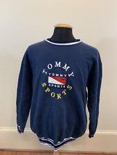 4b568d82c79 90s VTG BOOTLEG TOMMY HILFIGER SPELL OUT XL Big Flag Logo Sports Sweater  Hip Hop