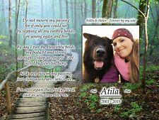 Pet Dog Memorial Plaque Photo Slate - Heavenly Steps