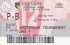 2x Tickets:Amsterdam Toernooi 03/05-08-2000 met Ajax,Arsenal, Barcelona en Lazio