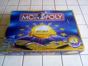 MONOPOLY EURO - édition exclusive - Hasbro / Parker Brothers 1999 Complet TBétat