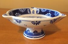 "Vintage Royal Delft 60's Footed Pedestal Ashtray Dish Windmill Design 2.25"" high"