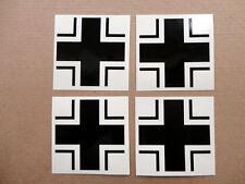 """Iron Cross Wehrmacht Balkenkreuz Armed Forces Set of 4 Vinyl Decals, 2.7"""" each"""