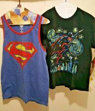 Men's Shirts Lot Of 2 Superman Tank & T Shirt Mens M