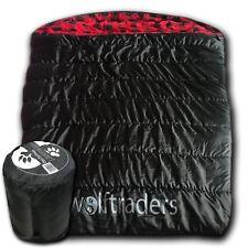 Wolftraders TwoWolves +0℉ 2-Person Premium Comfort Sleeping Bag, Black/Red
