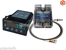 Universal 132din Pid Temperature Controller Blue 25a Ssr K Thermocouple