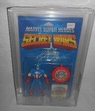 MARVEL SECRET WARS SERIES 1 CAPTAIN AMERICA FIGURE MOC AFA 75 MATTEL 1984