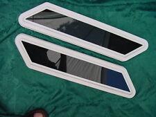 PORTHOLE BOW WINDOW SET BOAT WELLCRAFT SCARAB SEA RAY ? offset rectangle angled