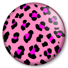 "Leopard animal print pink 1"" 25mm Pin Button Badge Pattern kitsch Bet Lynch"