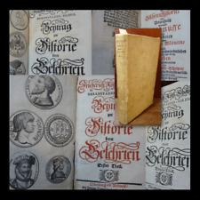 Friedrich Roth-Scholtzen : Beytrag Zur Historie Derer Gelehrten - 1725 Nuremberg