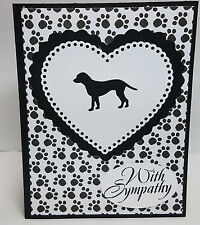 Handcrafted Greeting Card - Pet Sympathy - Dog or Cat