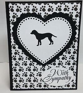 Handcrafted Greeting Card - Dog Sympathy