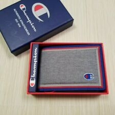 MENS CHAMPION GREY RED BIFOLD WALLET WITH ORIGINAL GIFT BOX CH3038-030