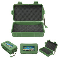 Green Waterproof Shockproof Outdoor Survival Container Storage Carry Box Case
