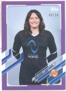 Tori Dixon 2021 Topps Now Athletes Unlimited Volleyball Purple #48/50