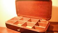 Antique Victorian Mahagony Divided Box with Working Key
