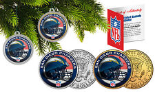 SAN DIEGO CHARGERS Christmas Tree Ornaments JFK Half Dollar US 2-Coin Set NFL