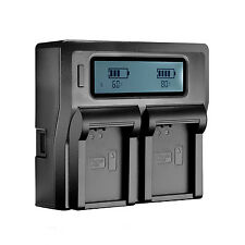 LCD Dual Channel Charger for Olympus PEN-F OM-D  EM1 EP5 EM5 EM5 Mark II  BLN1