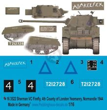 Peddinghaus 1/16 Sherman VC Firefly Allakeefek Markings 4th CLY France 1944 3522