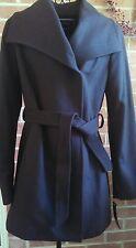 $220 Apt. 9 Wool Blend Trench Coat w Belt  Women's sz Medium DARK KALE GREEN