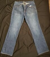 NEW YORK AND COMPANY Jeans Women's Low Rise Jeans Dark Wash Size 12 Distressed
