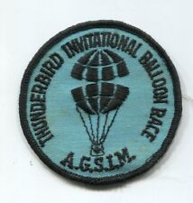 Vintage Thunderbird International Balloon Race Patch Don Piccard Balloonist