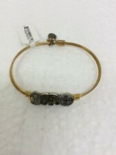 Luca + Danni Stella Buddha Elephant Coin Stackable Bangle Bracelet Brass New
