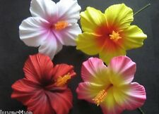 Hawaii HIBISCUS Flower FOAM Hair PICK Red Yellow Pink Wedding Luau Prom Bride