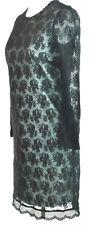 Dolce Gabbana D&G Black Dress Lace Overlay Long Sleeve XS Extra Small UK 6 IT 38