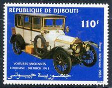 TIMBRE REPUBLIQUE DE DJIBOUTI N° 192 ** PA VOITURE ANCIENNE LORRAINE-DIETRICH