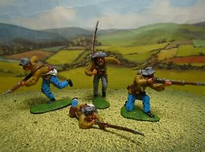 Superbly painted CTS 1/32 scale ACW Confederate Infantry x4 (butternut) (Set 1)