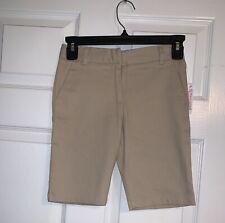 Girls' New Izod Flat Front Khaki Shorts Size 7