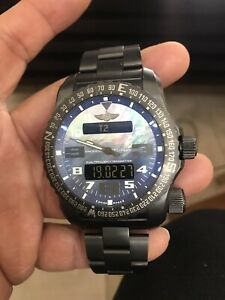 Breitling Emergency 2 Night Mission Blue MOP Dial 51mm Titanium. Good condition