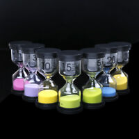 1/3/5/10/15/30 Minuti sabbia vetro clessidra clessidra orologio da timer de CH
