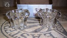 Vintage Pair Clear 24% Lead Crystal Votive Candle Holders new in box