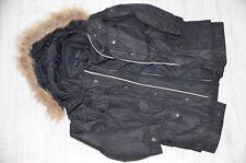 ESPRIT 2in1 Winterjacke Gr. 104/110 schwarz Kapuze gesteppte Fleecejacke Jacke