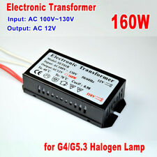 160W Electronic Transformer AC 110V to 12V for G4/G5.3 Halogen Lamp Power Supply