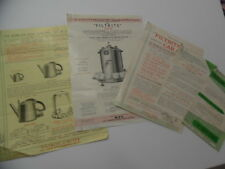 1951 FILTRITE LTD Electric Coffee Maker Tea Kettle Urn Catalog Sheet Lot Vintage